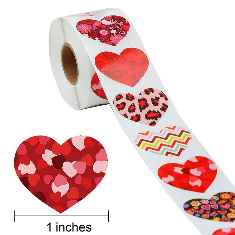 Heart Stickers seal labels 500pcs Labels stickers scrapbooking for Package and wedding decoration stationery sticker