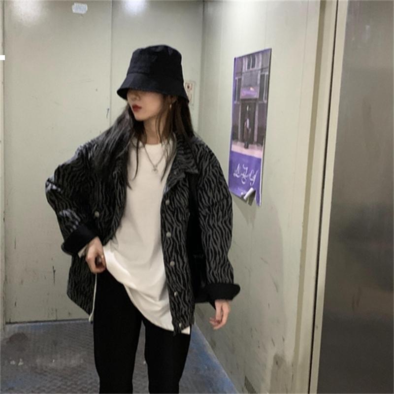 Zebra 2021 novo jaqueta de denim cinza outono designer de luxo mulher roupas kpop estilo cawf xhb3
