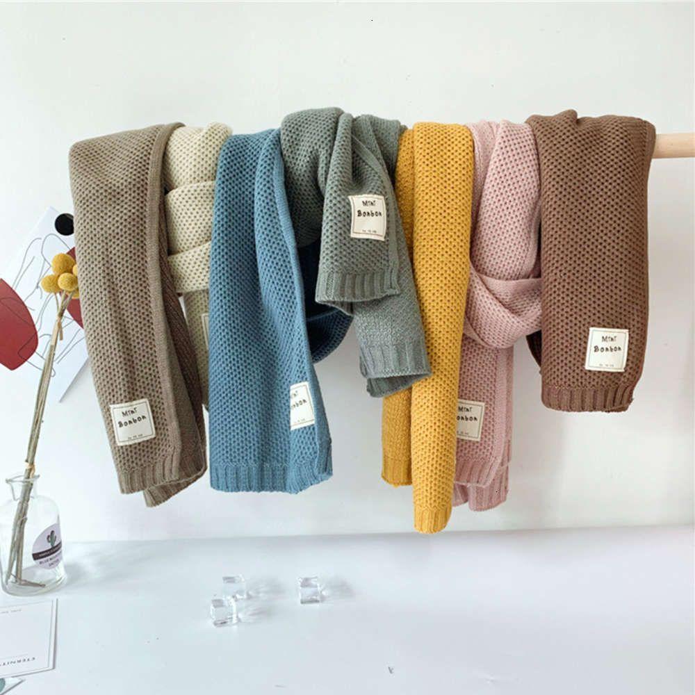 Color Pure ins Детский вязаный Скал Шарф открытый теплый шерстяной воротник для мальчиков и девочек зимой