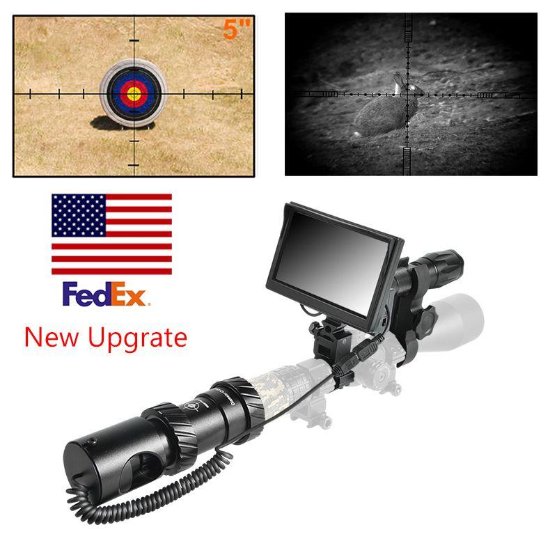 200M Nuevo actualización Noche Visión Noche Caza Riflescope Caza Scopes Optical Night Hunting Sniper Scope 2 años Garantía