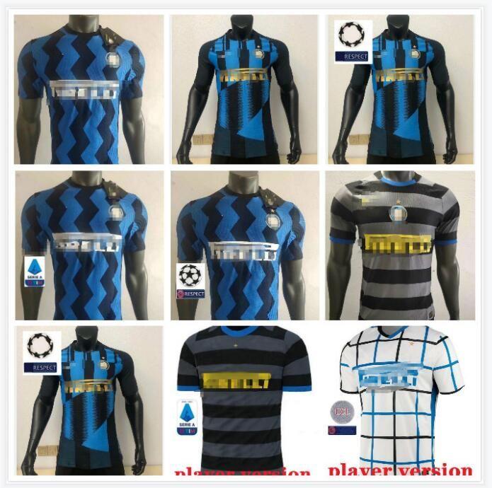 2020 2021 Lukaku Alexis Skriniar Player Version Jerseys de football 20 21kids Kits Lautaro de Vrij Godin Sensi Football Shirts