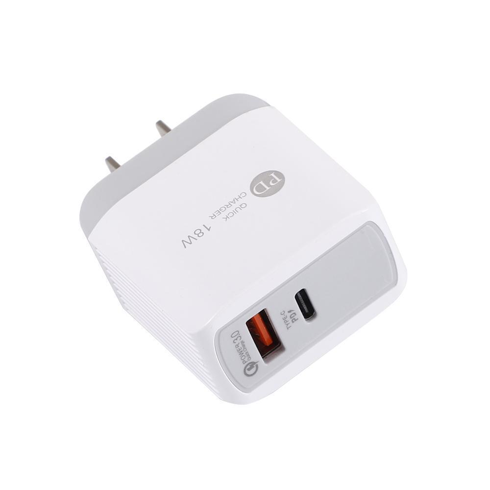 iPhone AB ABD Plug Hızlı Şarj için Samsung S10 Huawei İçin USB PD 18W USB PD Quick Charge QC 3.0