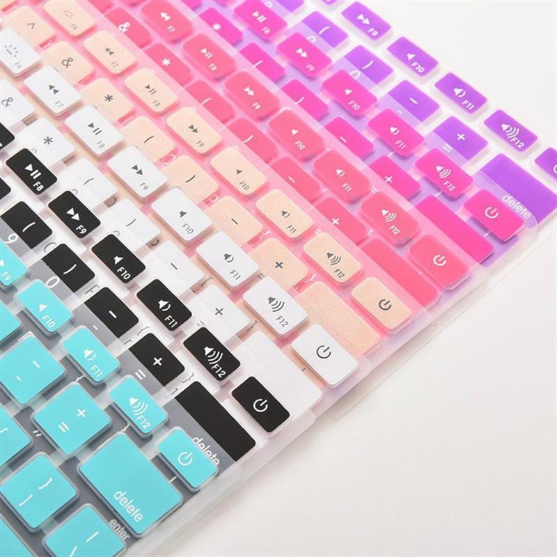 7 Candy Colors Silicone Keyboard Cover Sticker per Pro 13 15 17 Pellicola Pellicola Pellicola