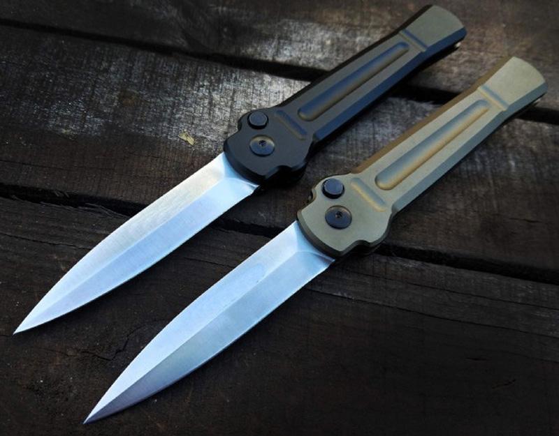 Высококачественный автоматический тактический складной нож AUS-8A атласная копье ножей 6061-T6 алюминиевая ручка EDC карманные подарочные ножи с розничной коробкой