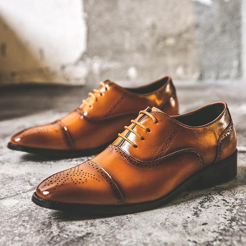 de luxo homens festa vestido de banquete de couro natural sapatos apontados em sapato bullock cavalheiro schoenen mannen sneakers llcn