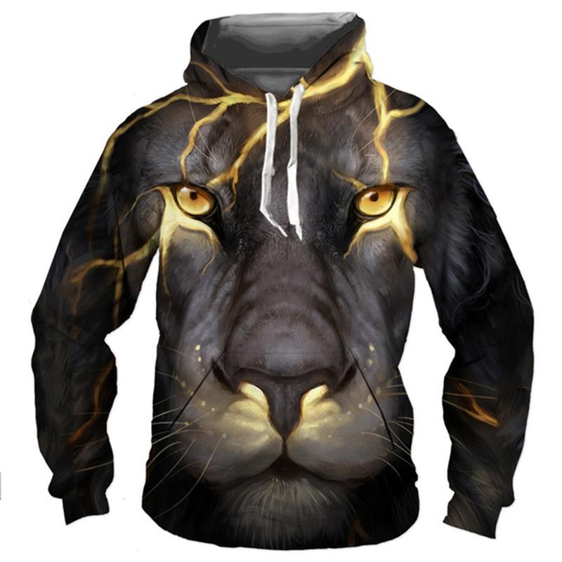 3d Новая пара животных смешные толстовки женщины напечатаны тигр одежды размер одежды мода плюс ливные толстовки пуловеры мужчины 2020 капюшон Aaabv