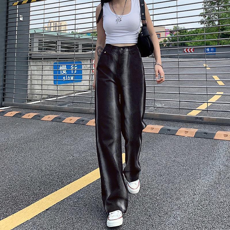 Jeans de mujer Vintage 2000S Estética Black Black Boolgy Y2K Boyfriend Mamá para las mujeres Lindas Girls Streetwear High Cintura Pantalones de moda Bottoms1
