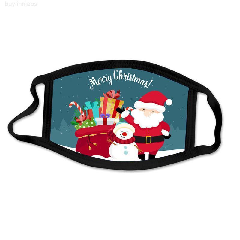 Impresso dos EUA Moda Moda Christmas Kids Adulto Xmas Face Masks Anti Poeira Nevoeiro Floco de Neve Floco de Neve Capa Respirável Lavável Reutilizável