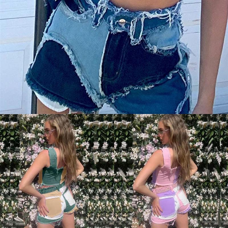 Xns verano nuevas mujeres jeansloose plú tamaño damas harem pantalones sólidos color jeans salvaje casual dama jeans den
