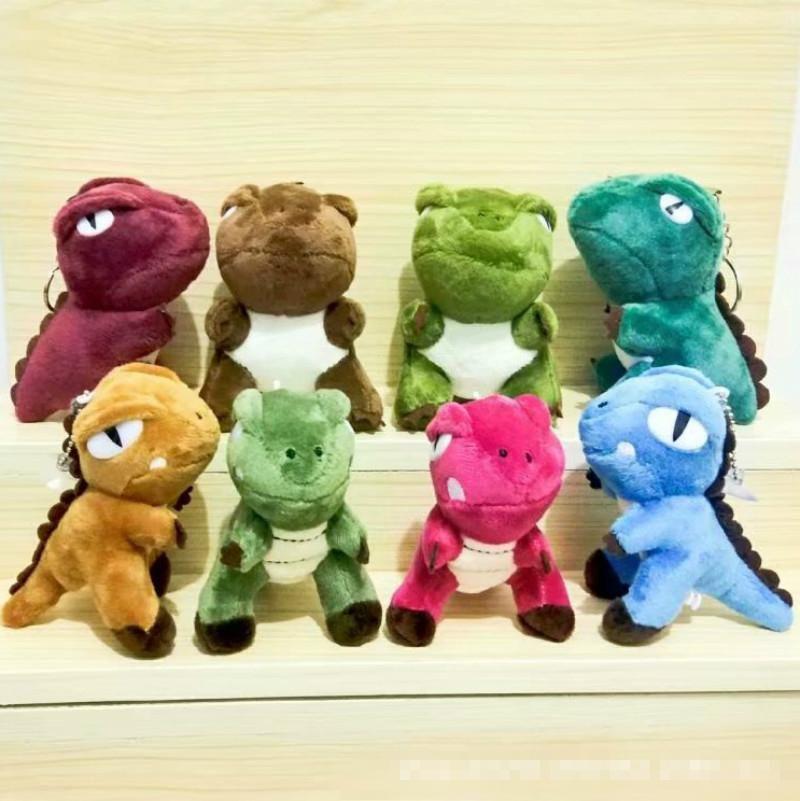 XMY 10CM Kawaii мини динозавр игрушка дракона плюшевая чучела игрушка высота брелок кулон плюшевая игрушка кукла для ребенка рождественский подарок