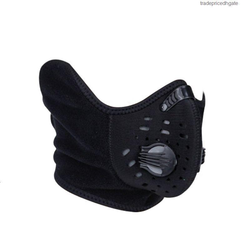 Рта против ткани лица корейский pm2.5 дымчатый / анти пыль с углеродным фильтром спортивная езда черная маска
