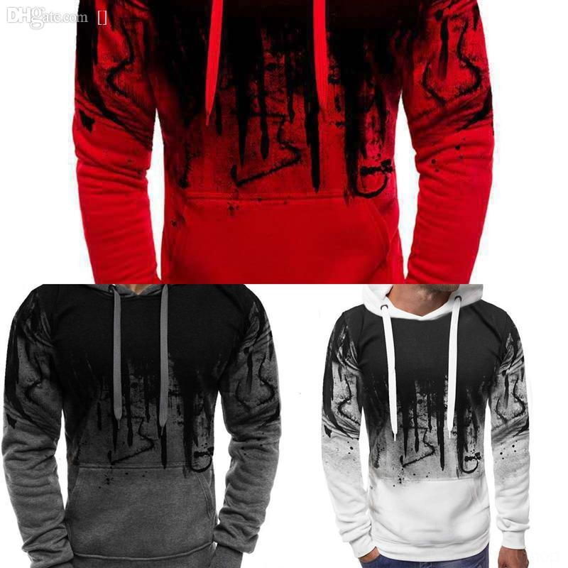 AxjkScustomized manautumn and winter new men's printing creative UFC long-sleeved spring casual sports hooded Splash ink with a s