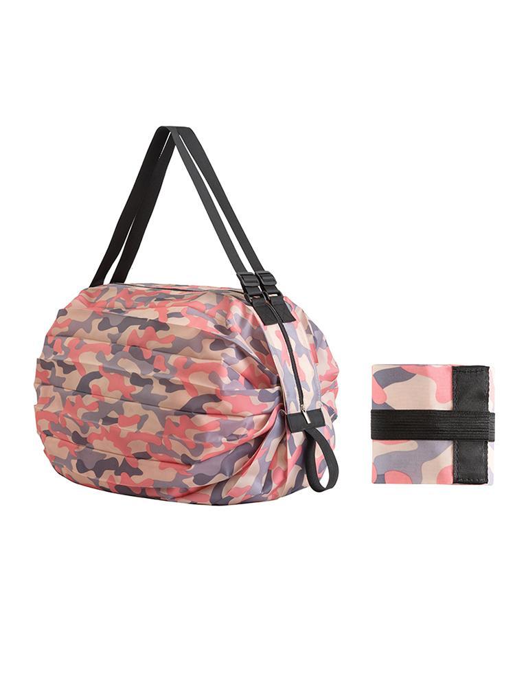 5 pcs bolsa de compras colapsible viagem ombro portátil grande acolchoado impermeável nylon handbag ambiental supermercado