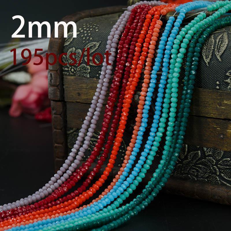 Otro color múltiple de 2 mm 195pcs Bicone Crystal Beads Cut Faceted Redondo Cuentas de vidrio, collar de pulsera Joyas Fabricación DIY1