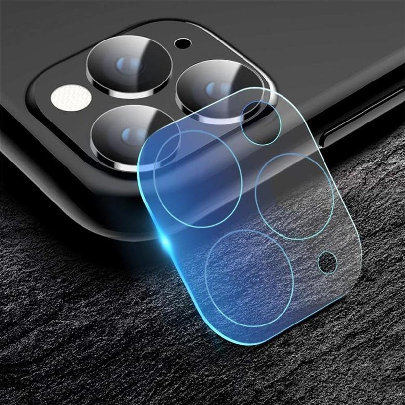 mini protetor de tela de lente para telefone 12 pro max 11 capa traseira 3d transparente resistente a riscos de volta câmera temperada vidro