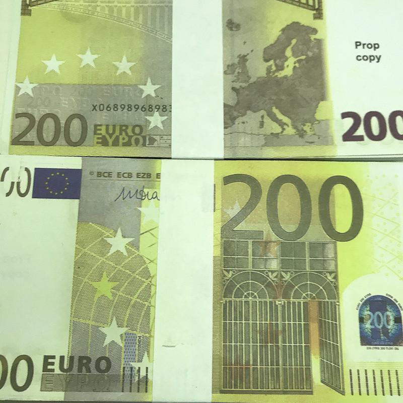 Hochwertige nicht markierte Euro-Banknote-Kopie-Banknoten-Requisimulation 20 50 Euro Geld echte falsche Banknoten-Requisiten X12