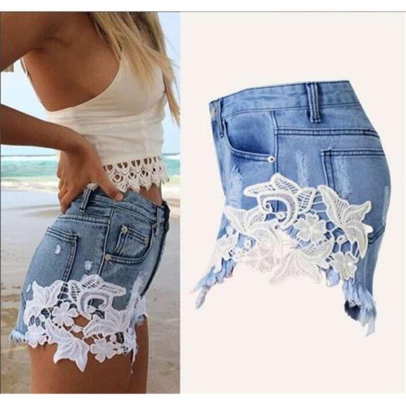 shorts de dentelle sexy pour femmes