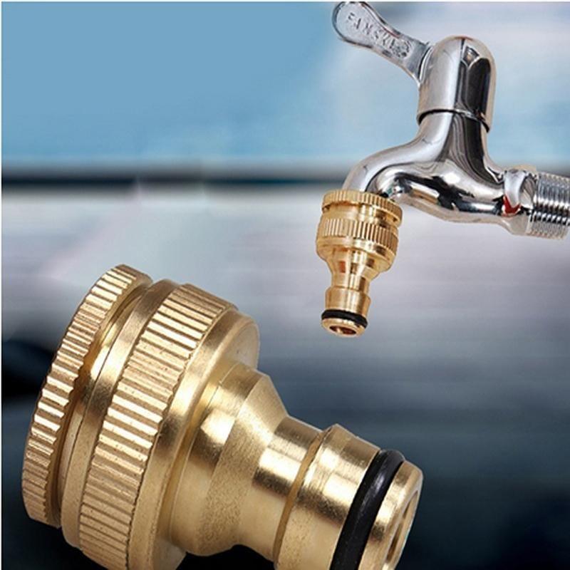 Küchenarmaturen 25mm 20mm Gewinde Schnuller Form Messing Farbe Stecker Waschmaschine Wasserhahn Fitting Rohr