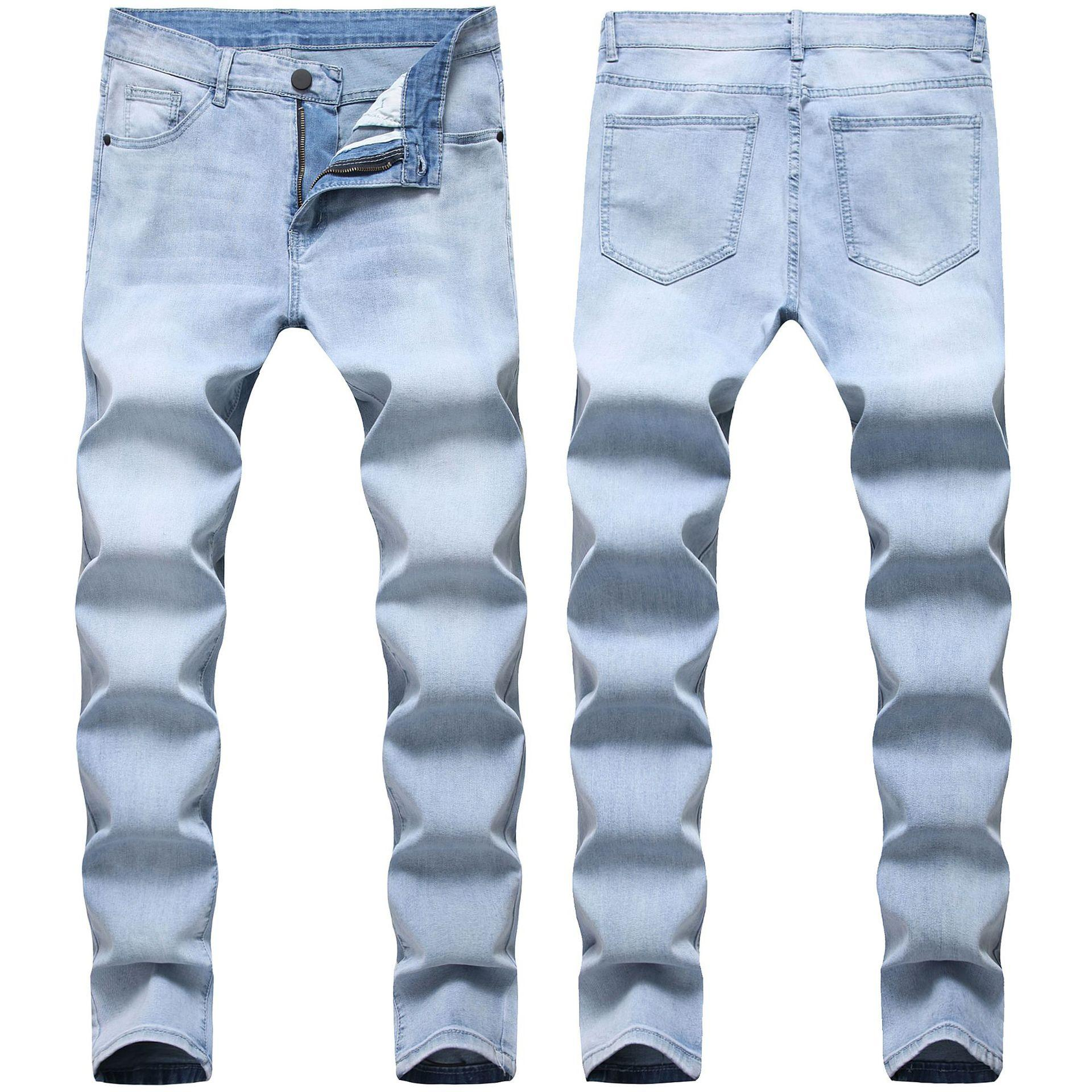 Sıska Erkek Kot Mavi Serin Erkekler Kot Streç Slim Fit Denim Biker Jeans Hip Hop Erkekler Streetwear 3822 #