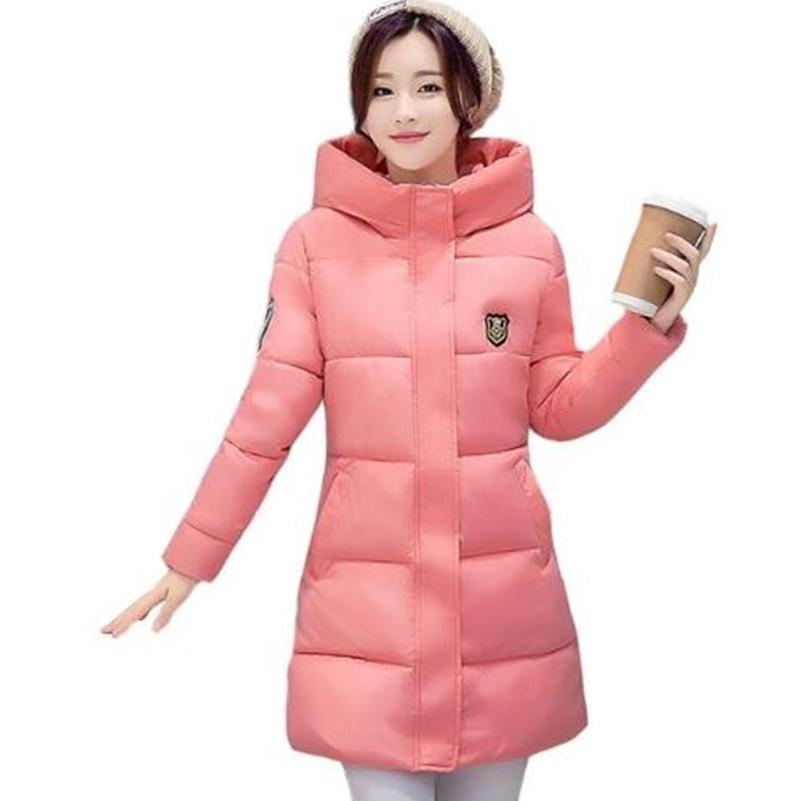 High Quality Causal Ladies Coat Women Winter Long Hooded Coat Warm Thicken Womens Winter Jacket Solid Padded Female Down Parka 201211