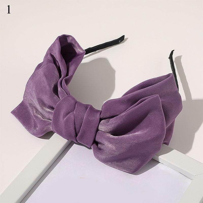Mor Bej Kadın Yay Bandı Saten Scrunchies Saç Klipler Zarif Elastik Saç Kravatlar At Kuyruklu Tutucu Kafa Hoop Saç Aksesuarları Q SqckFN