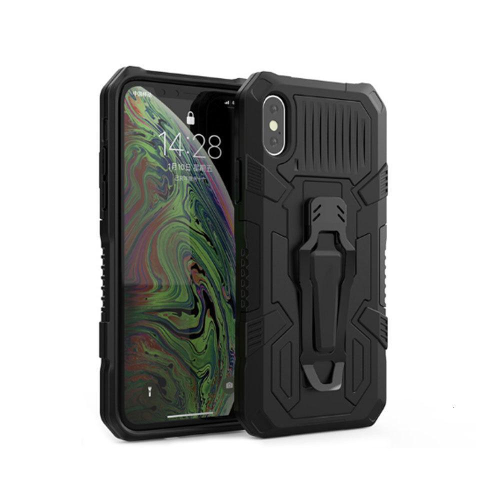 Kemer Klip Kılıf iphone 12 11 Pro Max XR XS X 7 8 6 S Artı 7 artı SE 2020 ile sağlam hibrid zırh standı darbeye dayanıklı koruyucu kapaklar