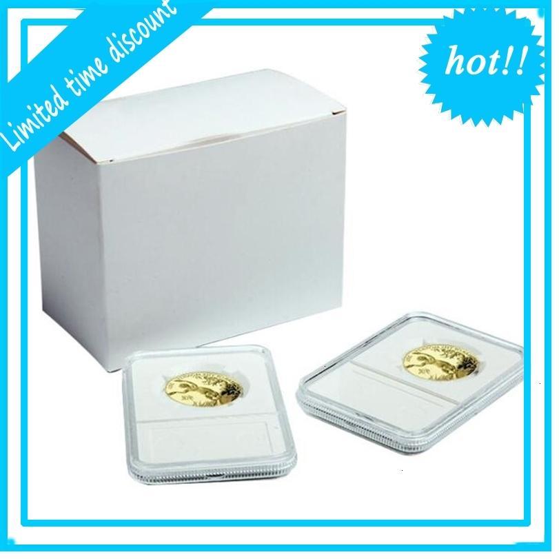 100 шт. Профессиональный дисплей Держатель плиты собирать хранилище 40 мм Коллекция монет