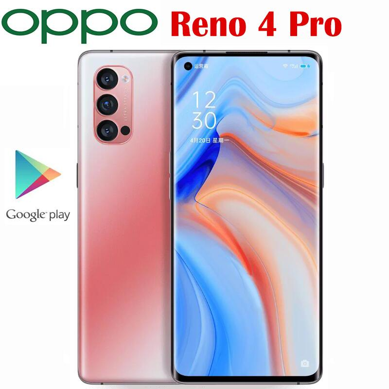 Offizielle Original-Oppo Reno 4 Pro 5G Handy Snapdragon 765g Octa-Core 6.5 90Hz AMOLED 48MP 4000Mah 65W SupperVOOC2.0 NFC