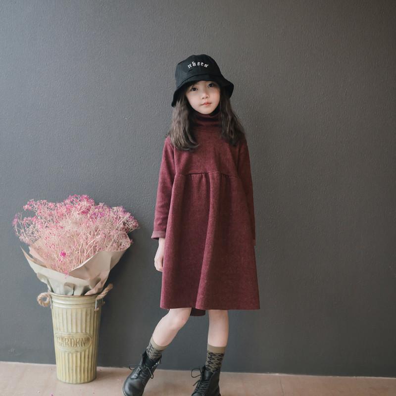 Девочки осень зима новых детей досуг свободных детей элегантное детское платье принцессы платье малышей, # 5397 201130