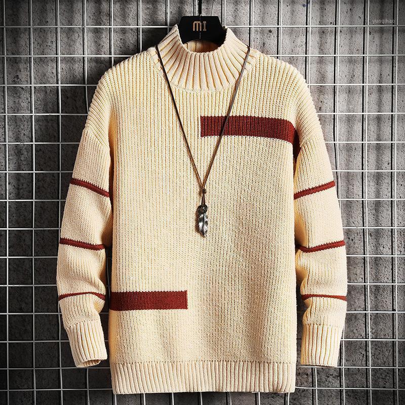 Neue Herrenpullover Mode Japan Stil Streetwear Langarm Pullover Männer Casual Harajuku Hohe Qualität Pullover Pullover Mens1