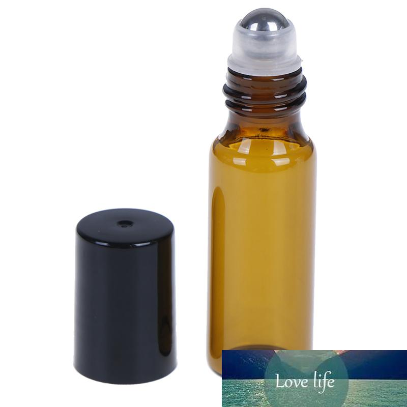 2/5 / 10pcs Verver Vide Glass Essentiel Rouleau d'huile Essential sur des flacons de bouteilles avec boule à rouleaux en métal en acier inoxydable pour parfum aromathérapie