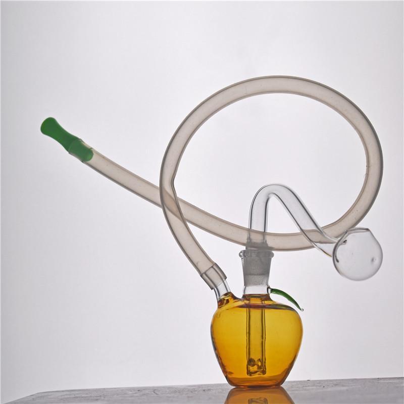 Mini DAB RIG RECYCLING MINI GLAS BONGS 10MM Joint Rauchen Wasserleitung Bubbler Wasserbein mit 10mm männlichen Glasölbrenner Rohr und Silikonrohr