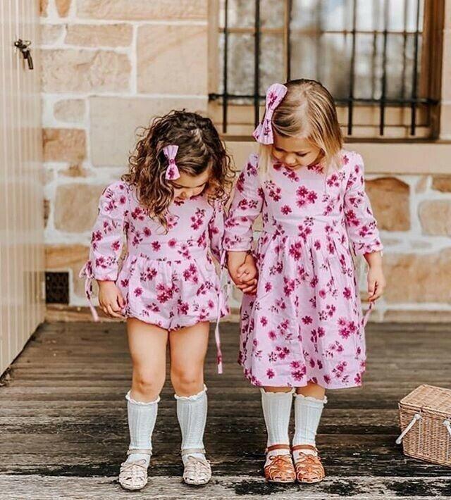Criança bebê meninas floral romper bodysuit headband roupa roupa conjunto