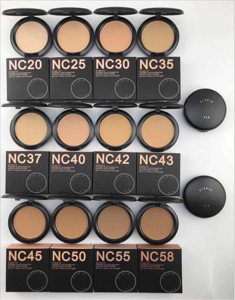 في الأوراق المالية! ماكياج جودة عالية NC 12 اللون studiu إصلاح المساحيق النفخات مؤسسة 15 جرام جديد حار ماكياج NC الألوان