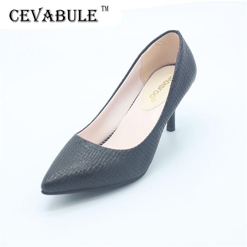 Cevabule primavera verão mulheres salto alto sapatos de boca rasa sapatos apontados sapatos mulheres sexy ol bombas .lss-187 lj200924