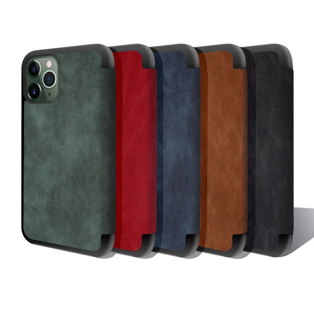 Portefeuille Premium Magnetic PU Cuir Cas de livre pour iPhone 13 12 Mini 11 Pro X Max XR 7 8 Plus Samsung Note20 S21 Ultra