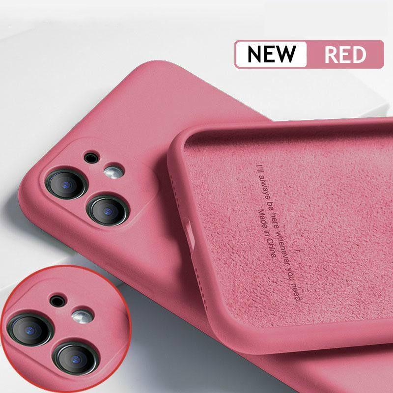 Custodia per telefono in silicone in silicone TPU per iPhone 12 13 Mini 11Pro Max x XS XR Cover posteriore opaco Coperchio Coque Capa per iPhone 11 Pro 7 8 Plus Multi Color Cases