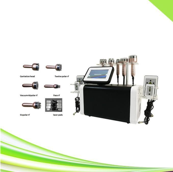 Profesyonel 6 in 1 Spa Kliniği Lipolaser Yüz Kaldırma RF Kavitasyon Sllimming Lipo Lazer Ultrasonik Kavitasyon