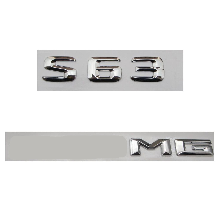 Badge dei distintivi del badge del tronco di lettere cromati per Mercedes W221 W222 S63 per AMG