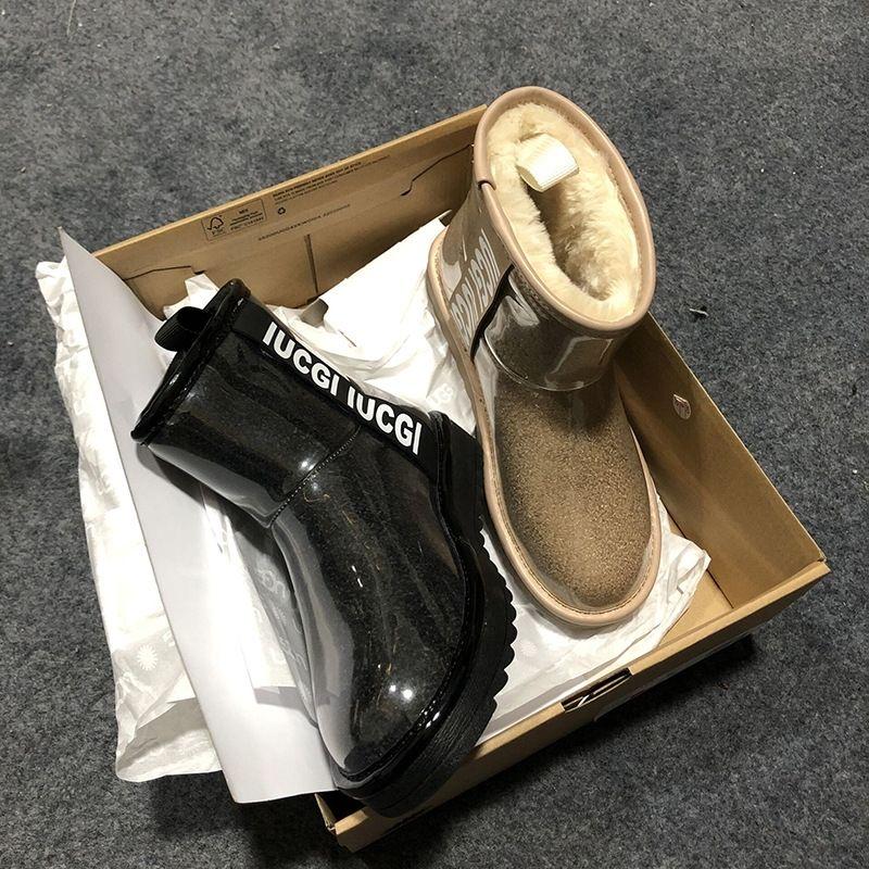 VKN Damen Winter Schneeschuhe Halten Warme Knöchelpelz Schuhe Schuhe Baumwolle Walkin mit Erhöhung Komfortables Outdoor No-Rutsch Wasserdicht