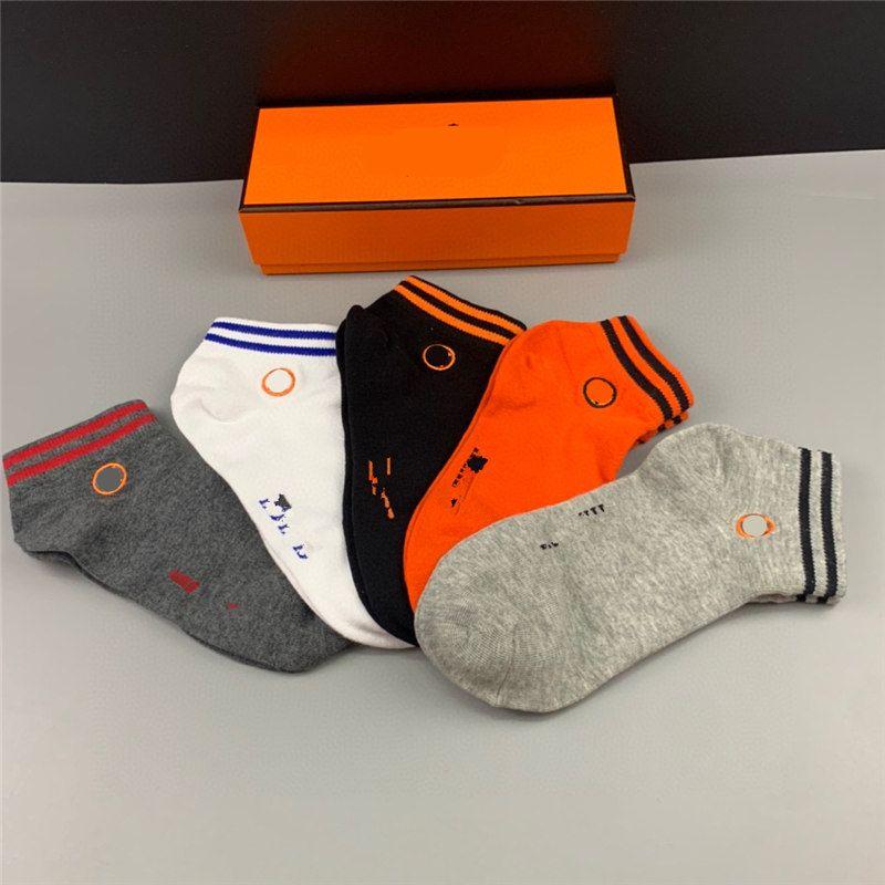 Clásicos hombres calcetines masculino tobillo sock calle ropa interior estilista calcetines de baloncesto deporte para las mujeres un tamaño naranja calcetines cortos
