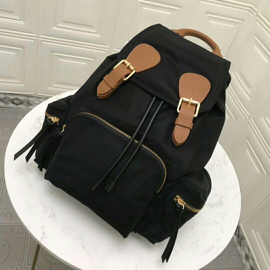 جديد حقيبة الظهر حقيبة يد حقيبة يد جودة عالية اثنين من الألوان خياطة حقيبة مدرسية حقيبة يد في حقيبة شحن مجاني