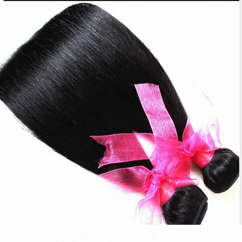 barato recto de los paquetes humanos de los paquetes de cabello de la trama de color natural de la trama de color recto sin vertederos, enredándose con el precio al por mayor