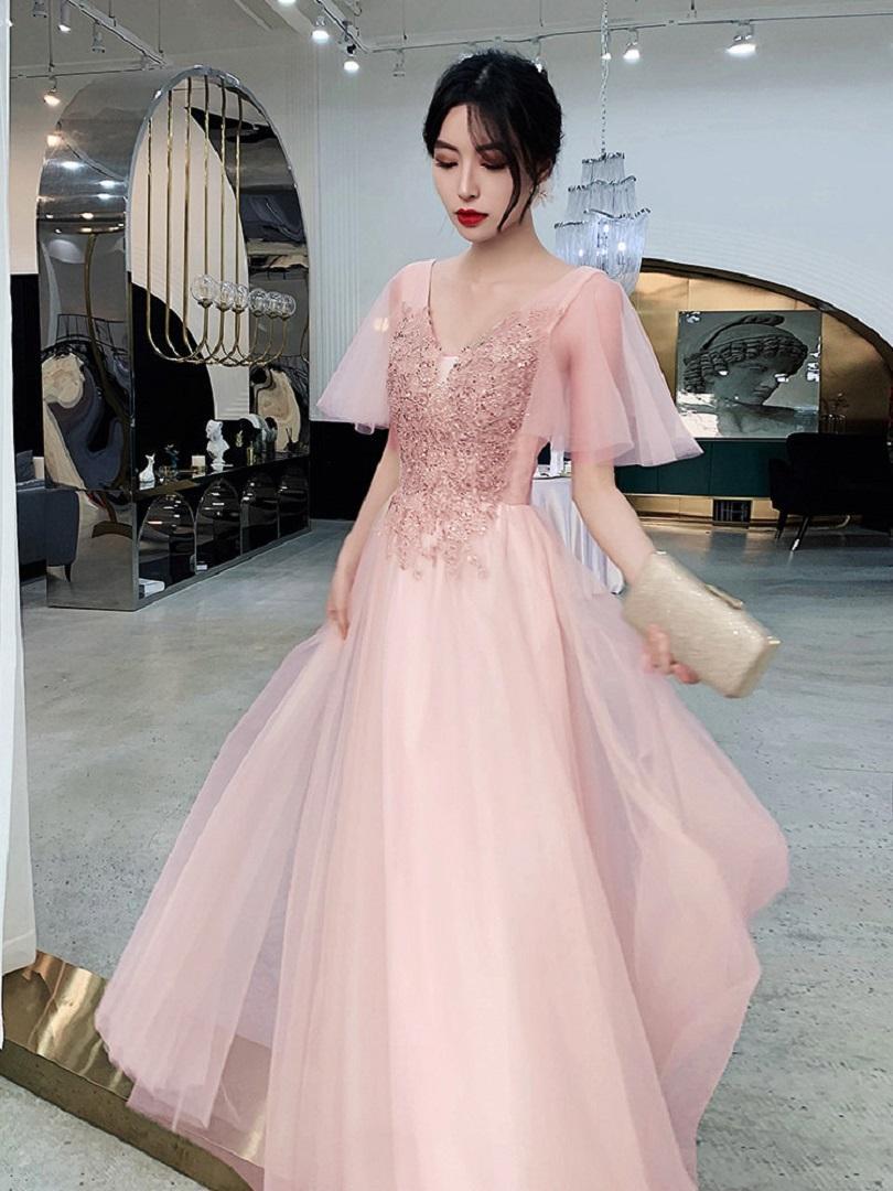INS Creativo Vestido de dama de honor Banquete de temperamento de hadas Por lo general, puede usar un pequeño vestido de falda de 18 años de rito de cumpleaños de 18 años