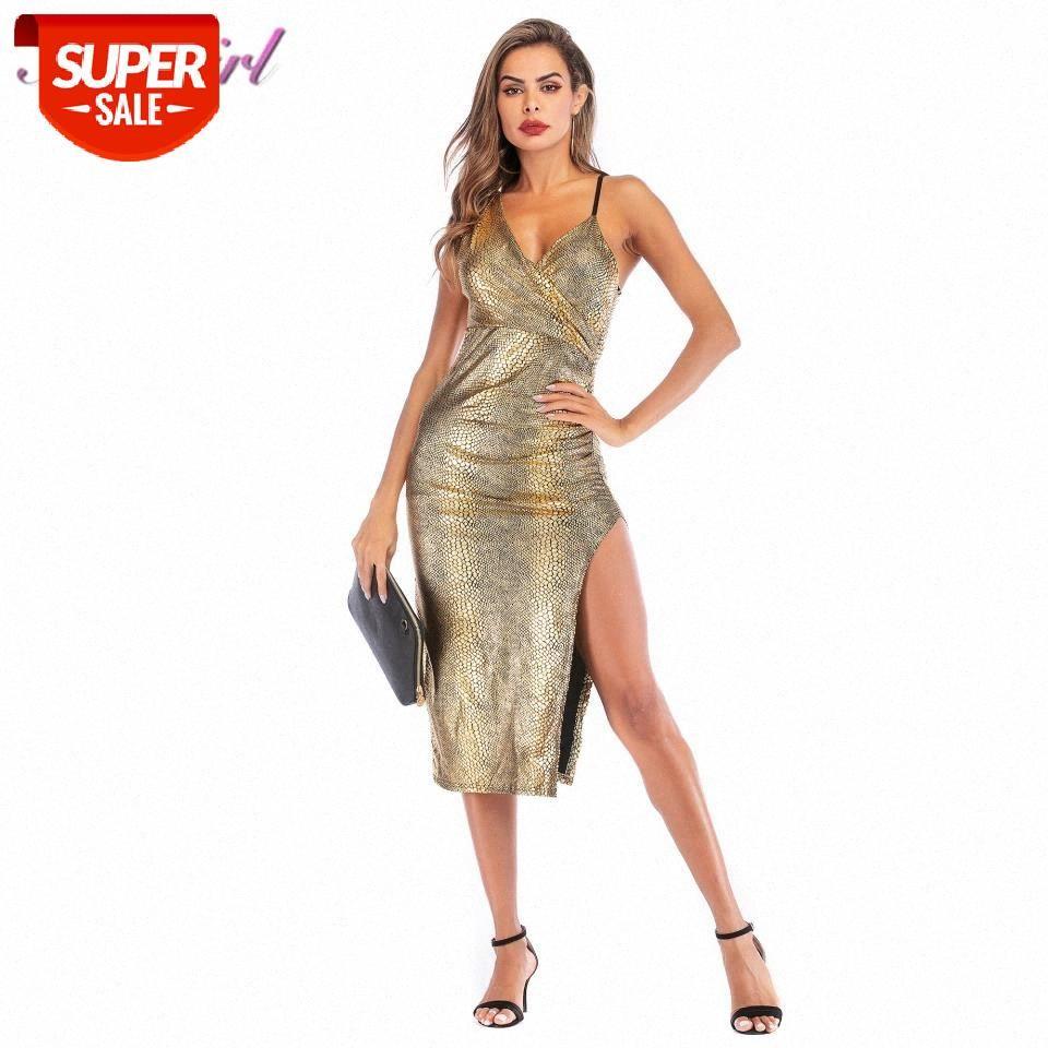 Sexy Women Snake Print Spaghetti Strap Bodycon Evening Party Dress Summer Casual Backless Vintage Wrap Dresses Elegant Vestidos #Gz7R