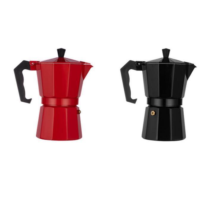 Café de alumínio do fabricante do espresso do café do café do café do café do espresso para a casa de escritório, prata, 600ml 12tasses