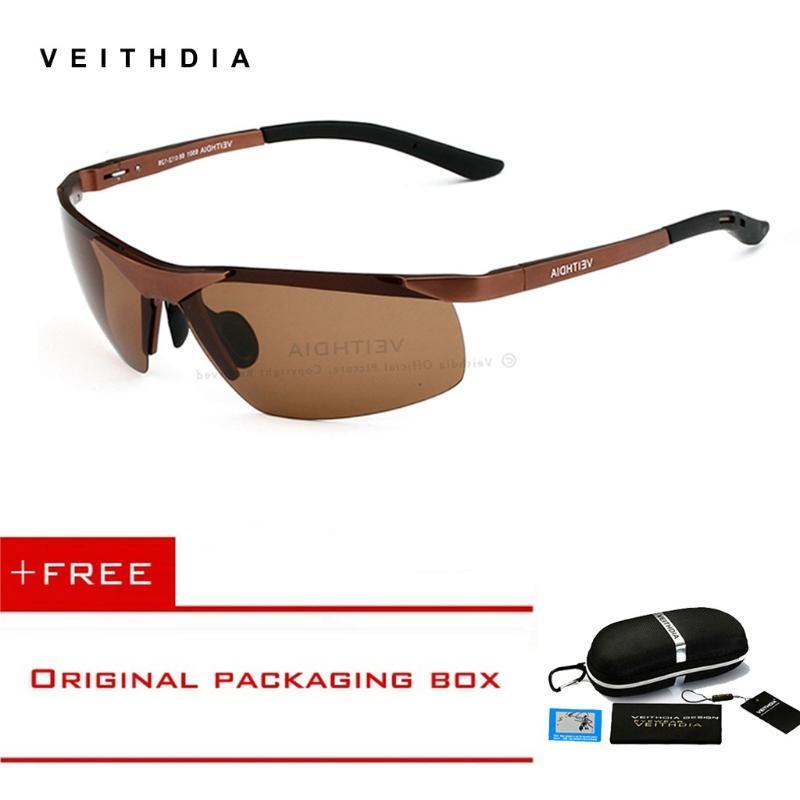 Aluminium Sonnenbrille Magnesium Goggle Polarisierte Töne Sun Eyewear Sports Männliche Gläser Randlose Herrendesign Für Männer MGVMO