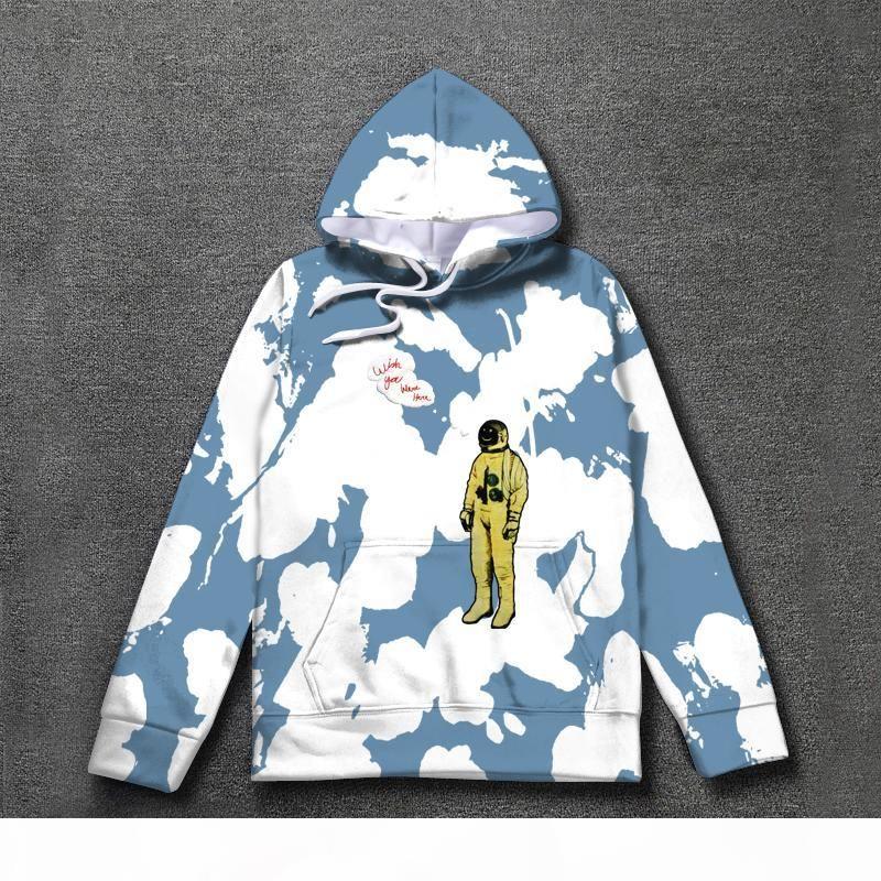 Astroworld Hoodie 넥타이 염색 Travis Scotour Astronain Astroworld Hoodies 2019 남성 여성 풀오버 스웨터