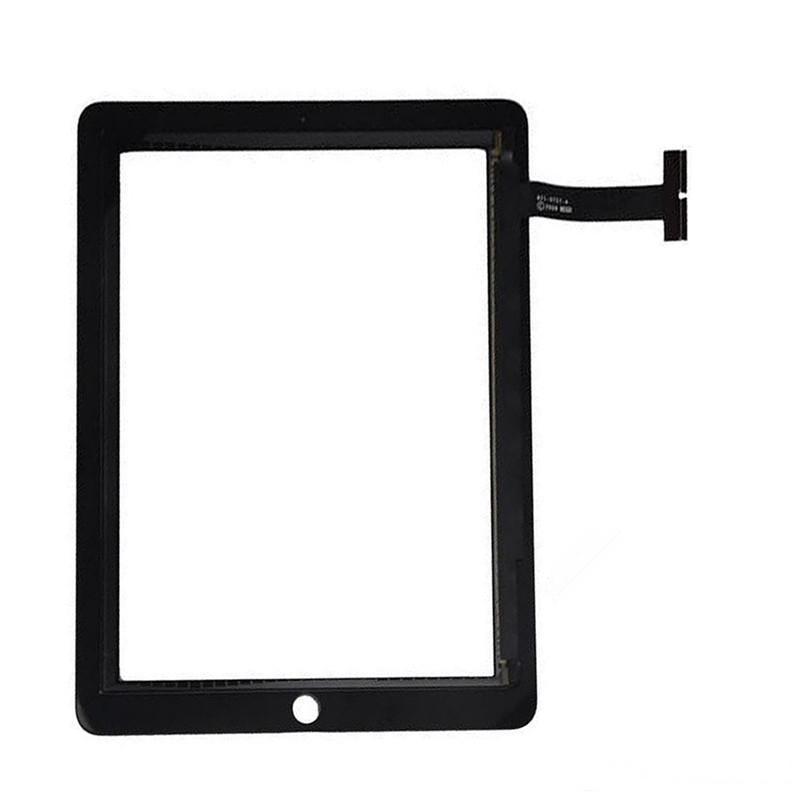 Schermo 50PCS Touch Panel di vetro con pulsanti digitalizzatore adesivo per iPad 1 nero libero del DHL