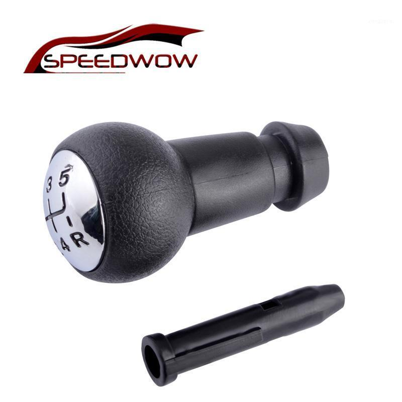 SPEEDWOW 5 Speed Manual Transmission Gear Shift Knob With Sleeve Adapter Lever For 106 206 306 406 806 107 207 3071